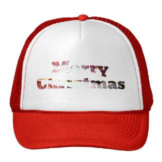 Merry Christmas Bacon Print Mesh Hats