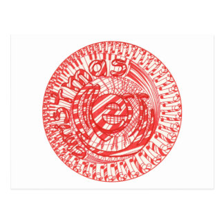 Merry Christmas Ball Candy Canes Music Postcards