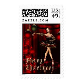 Merry Christmas- Ballet, Ballerina, Dance, Postage
