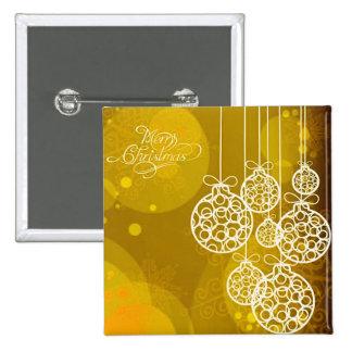Merry Christmas Balls 3 Pinback Buttons