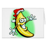 Merry Christmas Banana Happy New Year Greeting Card