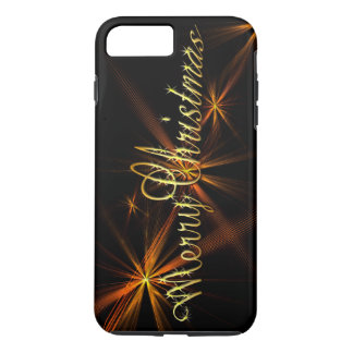 Merry Christmas Banner on Black - Holiday iPhone 8 Plus/7 Plus Case