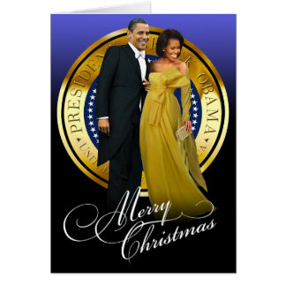 Merry Christmas Barack and Michelle Obama Card