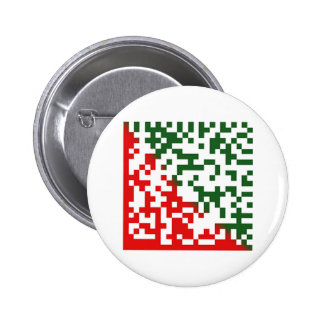 Merry Christmas Barcode 2 Inch Round Button