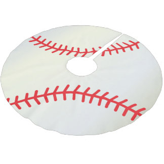 Merry Christmas  Baseball Lovers Brushed Polyester Tree Skirt