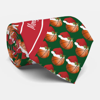 Merry Christmas Basketball Neck Tie