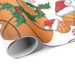 Merry Christmas Basketball Santa Wrapping Paper