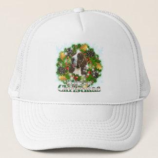Merry Christmas Bassett Hound Trucker Hat