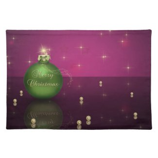 Merry Christmas Bauble - Placemat Cloth Place Mat