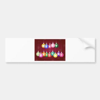 Merry Christmas Baubles Bumper Sticker