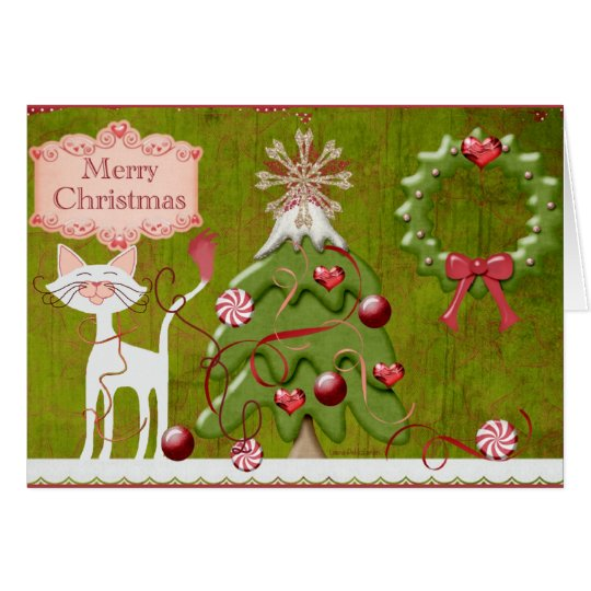 Merry Christmas Baubles Card
