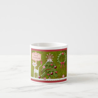 Merry Christmas Baubles Espresso Cup