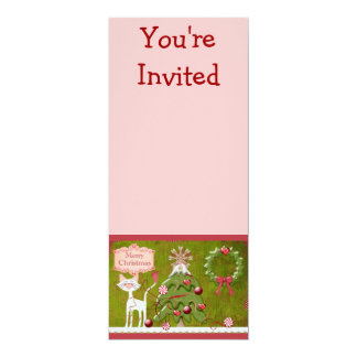 Merry Christmas Baubles Invite