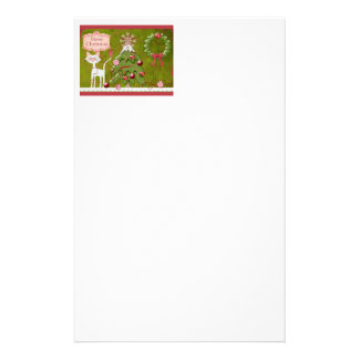 Merry Christmas Baubles Stationery Paper