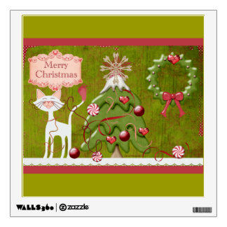 Merry Christmas Baubles Wall Sticker