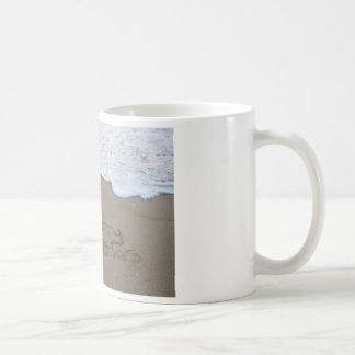 Merry Christmas Beach Writing Mug