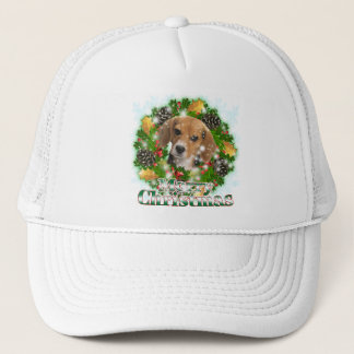 Merry Christmas Beagle Trucker Hat