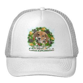 Merry Christmas Beagle Trucker Hat