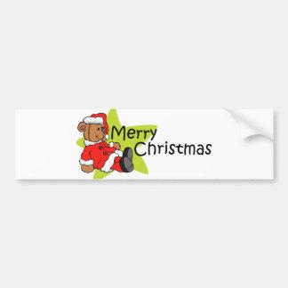 Merry Christmas Bear Bumper Sticker