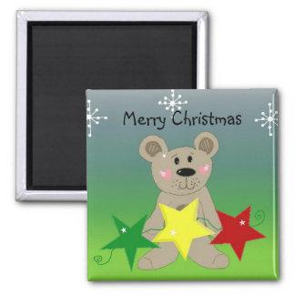 Merry Christmas Bear Magnet
