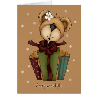 Merry Christmas Bear with Gift/Money Enclosed Card