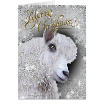 Merry Christmas Beautiful Angora Goat | BabyGirl Card