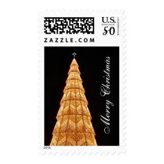 Merry Christmas - Beautiful Tree Lights Postage