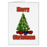 Merry christmas beer tree cards