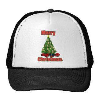 Merry christmas beer tree trucker hat
