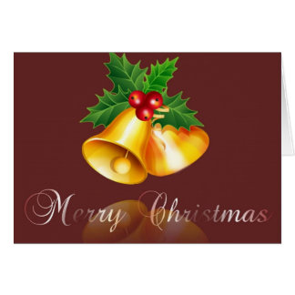 merry christmas-bell 2 card