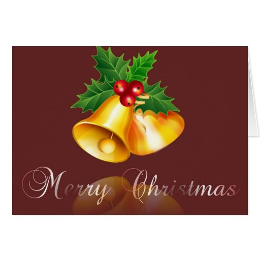 merry christmas-bell 2 stationery note card