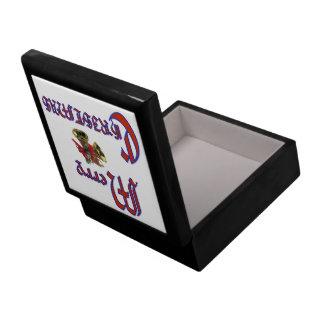 Merry Christmas bell 6x6 Trinket Box