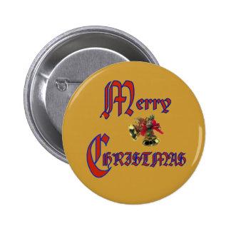 Merry Christmas bell Button