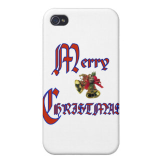 Merry Christmas bell  iPhone 4 Case