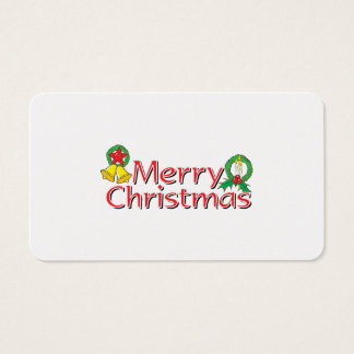 Merry Christmas Bell Lantern Wreath Candle Cards