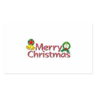 Merry Christmas Bell Lantern Wreath Candle Cards Business Cards