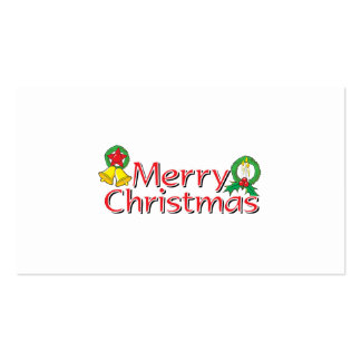 Merry Christmas Bell Lantern Wreath Candle Cards Business Card