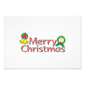 Merry Christmas Bell Lantern Wreath Candle Cards Photograph