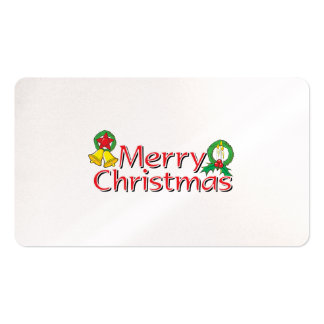 Merry Christmas Bell Lantern Wreath Candle Mistlet Business Cards