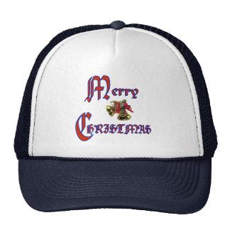 Merry Christmas bell Mesh Hats