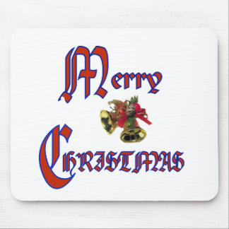Merry Christmas bell Mouse Pads