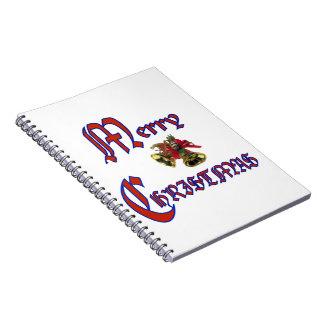"""Merry Christmas bell Notebook 6.5x8.75"""""""
