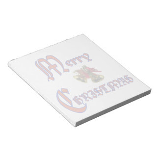 Merry Christmas bell Notepad (2) sizes