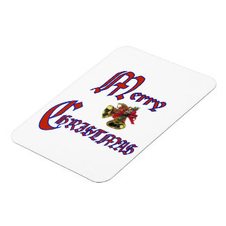 Merry Christmas bell Premium Magnet (2)sizes Rectangular Magnets