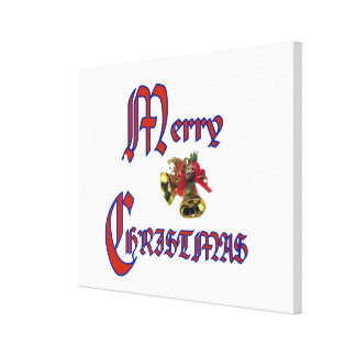 """Merry Christmas bell Wrapped Canvas 24x24"""" Canvas Print"""