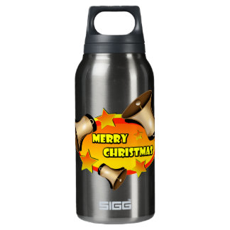 Merry Christmas Bells Insulated Water Bottle