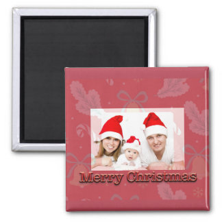 Merry Christmas Bells with Picture Magnet