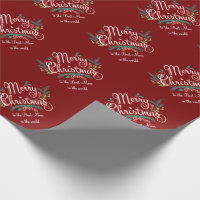 MERRY CHRISTMAS BEST MOM PERSONALIZED WRAPPING WRAPPING PAPER