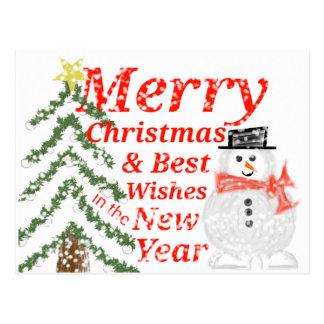 Merry Christmas & Best Wishes Postcard