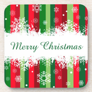 Merry Christmas Beverage Coaster